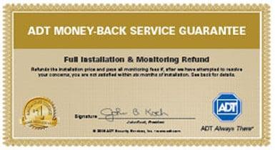 ADT Money Back Service Guarantee