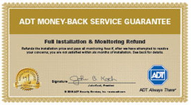 ADT Money Back Service Guarantee